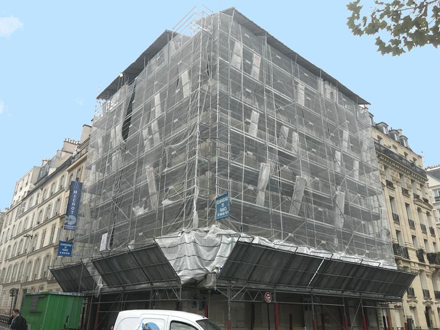 echafaudages-immeuble-paris